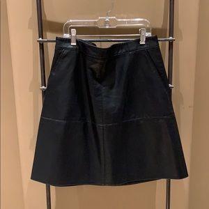 Zara Basics Faux Leather Skirt